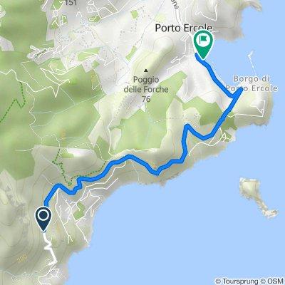 Percorso per Lungomare Andrea Doria 23, Porto Ercole