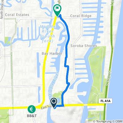 2240 E Sunrise Blvd, Fort Lauderdale to 2355 NE 26th St, Fort Lauderdale