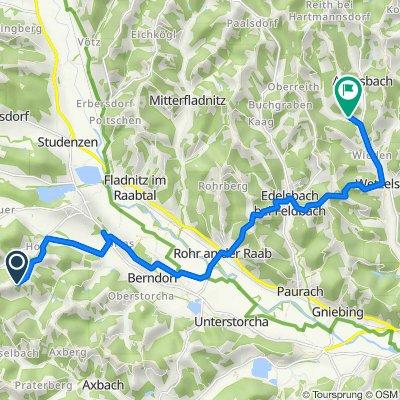 Wörth 157, Kirchberg an der Raab nach Auersbach, Feldbach