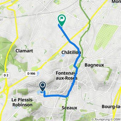 De Avenue de la Résistance, Le Plessis-Robinson à 67 Rue de Malakoff, Châtillon