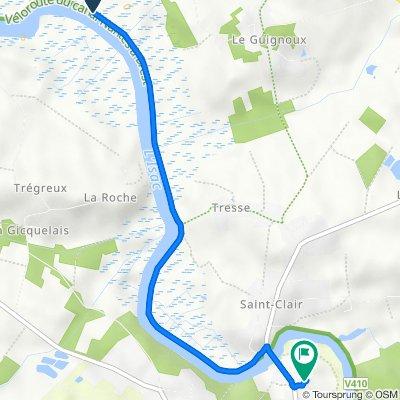 Itinéraire vers 8 Rue des Hauts du Port, Guenrouet