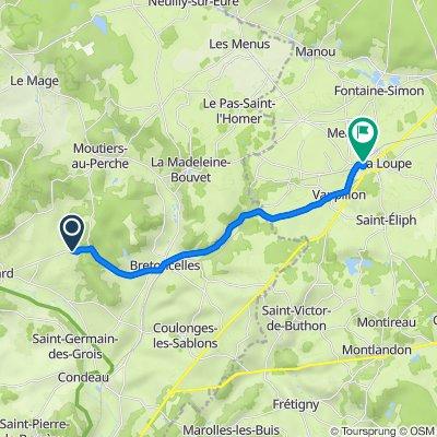 111 L'Espérance, Dorceau to 4 Place de la Gare, La Loupe