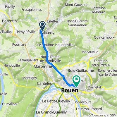 De 85 Rue Victor Hugo, Malaunay à 41 Boulevard de Verdun, Rouen