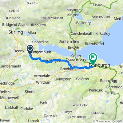 2A Rosebank Beefeater, Main St, Falkirk to 17 Cumlodden Ave, Edinburgh
