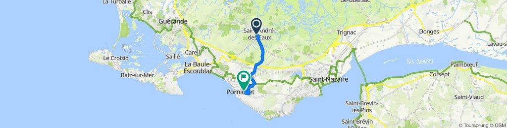 Itinéraire à partir de 4bis Rue de la Villès Batard, Saint-André-des-Eaux