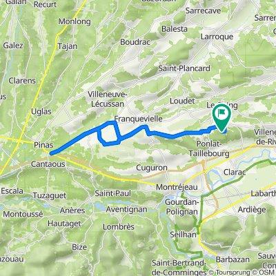 Villeneuve-de-Rivière Radfahren