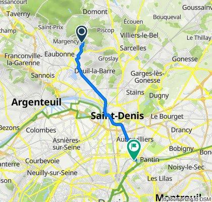 De 63B–63Bis Chemin des Laitières, Soisy-sous-Montmorency à 25 Passage de la Bauxite, Paris