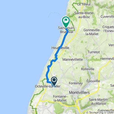 De 3bis Route de Saint-Barthélemy, Octeville-sur-Mer à 27 Avenue Lord Mountbatten, Saint-Jouin-Bruneval