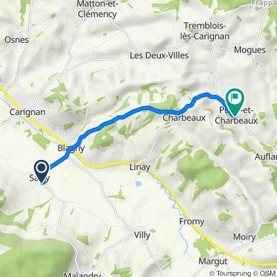 De 35 Route de Blanchampagne, Sailly à 20 Rue Principale, Puilly-et-Charbeaux