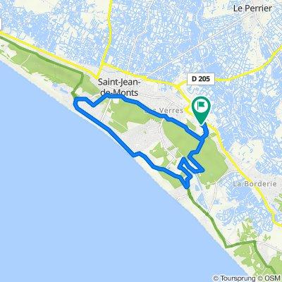 De Rue des Sables 238, Saint-Jean-de-Monts à Rue des Sables 238, Saint-Jean-de-Monts