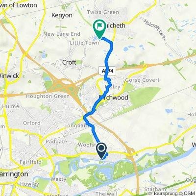 Mill Lane, Woolston, Warrington to Glaziers Lane, Risley, Warrington