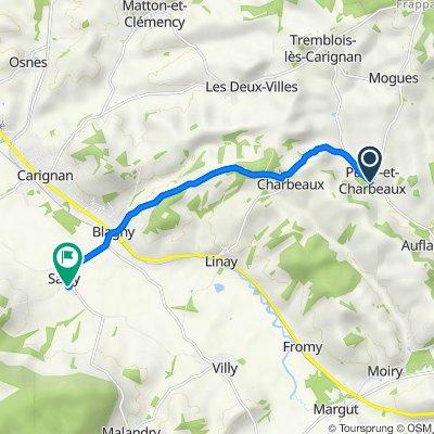 De 18 Rue Principale, Puilly-et-Charbeaux à 35 Route de Blanchampagne, Sailly