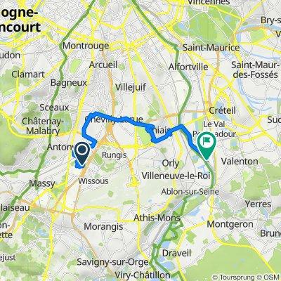 De Rue Pascal 13, Wissous à Villeneuve Triage, Villeneuve-Saint-Georges