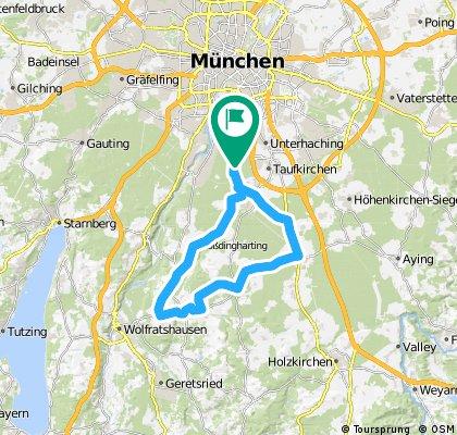 Rundfahrt: P.Forst>Oberhaching>Großdingharding>Deining>Egertshausen>Egling>Aufhofen>Endlhausen>Sauerlach>Deisenhofen...
