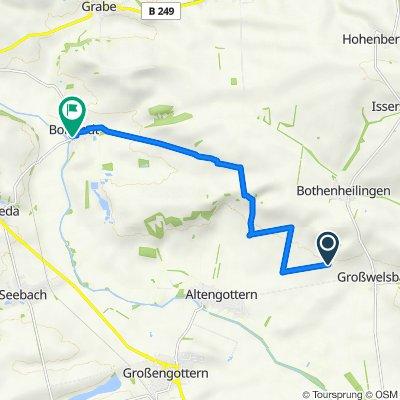 Route nach Höngedaer Straße 12, Weinbergen