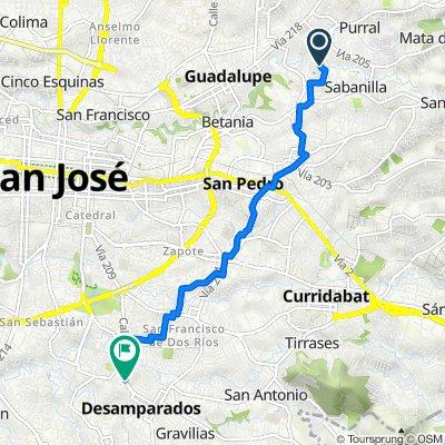 De Caminito de La Cuarta, San José a Ruta Nacional 209, San José