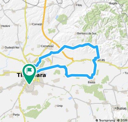 Timisoara - Lac Giarmata - Lac Ianova - Recas - Bazosu Nou - Remetea Mare - Timisoara