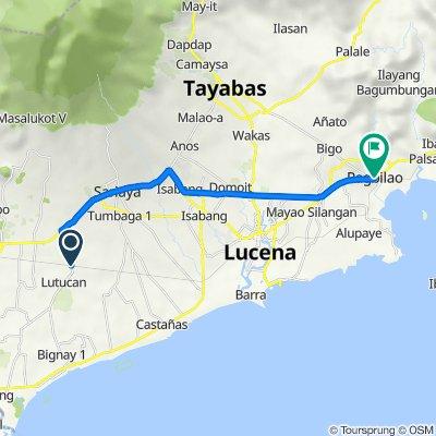 Lutucan - Guisguis Road 345, Sariaya to Pagbilao