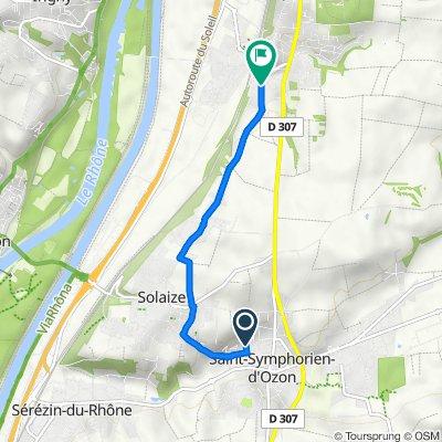 De 95 Impasse de la Côte, Solaize à 4 Chemin des Figuières, Feyzin