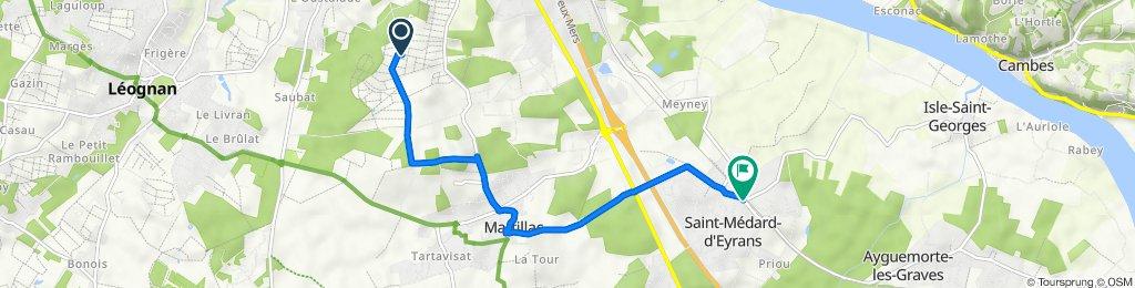 De 147 Bourran, Martillac à 59 Avenue du Baron, Saint-Médard-d'Eyrans