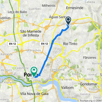 Rua Dr Mário Rosas da Silva 307, Maia to Rua de Passos Manuel 119, Porto