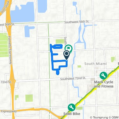 6702 Magnolia Ct, South Miami to 6626 SW 65th Terr, South Miami