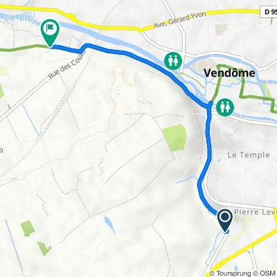 De 39 Route de Tours, Vendôme à 11bis Rue des Venages, Naveil