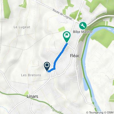 De 2 Impasse du Haut Bois, Fléac à 1 Route de La Vergne, Fléac