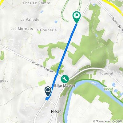 De 2 Route de La Vergne, Fléac à 30–66 Route du Grand Domaine, Fléac