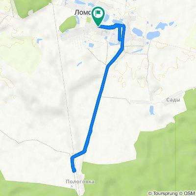 От Unnamed Road, Ломовка до Unnamed Road, Ломовка