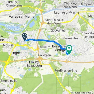De 95 Rue de Paris, Torcy à Rocade de la Gare, Bussy-Saint-Georges