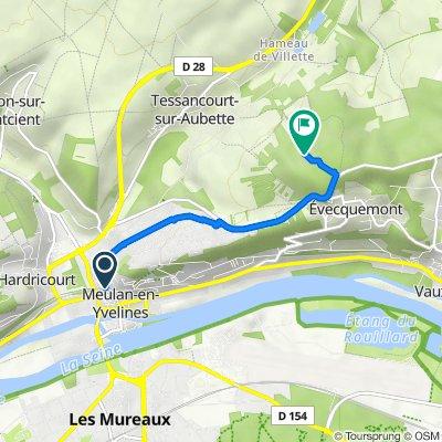 De 26–44 Rue de la Côte Saint-Nicolas, Meulan-en-Yvelines à Chemin de la Mare, Evecquemont