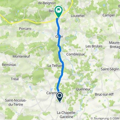 De 9 Bot Colin, Carentoir à 5 Rue du Clos du Breil, Guer