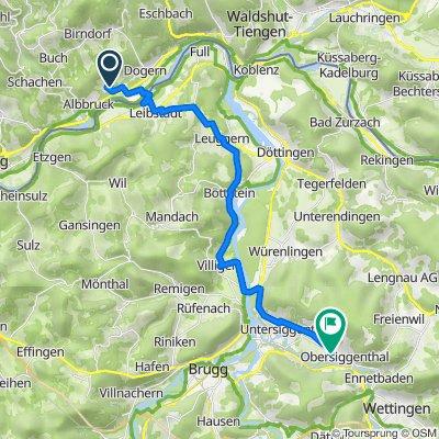 Kiesenbacher Straße 62, Albbruck to Landstrasse 117, Nussbaumen