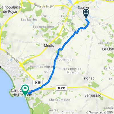 De 4 Impasse des Roses, Saujon à 136bis Boulevard de la Côte de Beauté, Saint-Georges-de-Didonne