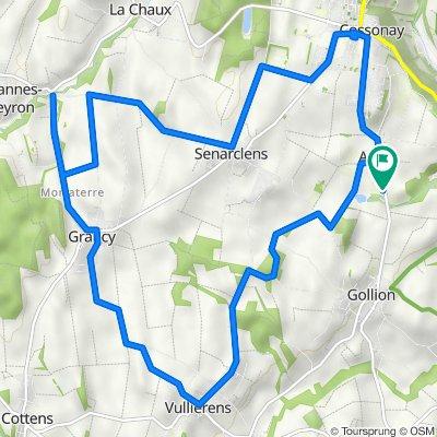 De Route de Gollion 8, Cossonay à Route de Gollion 8, Cossonay