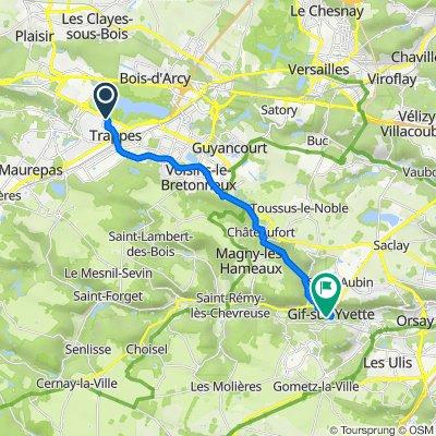 De Rue de Montfort 94, Trappes à Chemin des Grands Prés 21, Gif-sur-Yvette