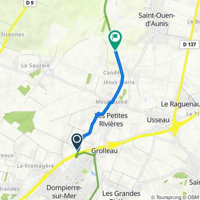 Itinéraire à partir de Rue des Fontaines, Dompierre-sur-Mer