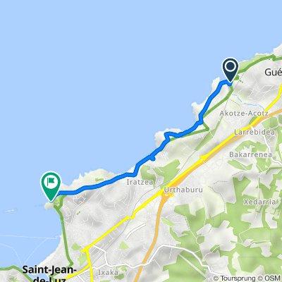 De Sentier Cenitz, Guéthary à Promenade Féodor Chaliapine, Saint-Jean-de-Luz