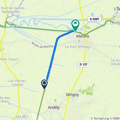 Itinéraire vers Quai du 11 Novembre, Marans