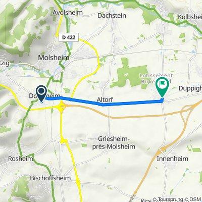 De 6 Rue des Vergers, Dorlisheim à 18 Rue du Général Leclerc, Duttlenheim