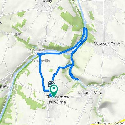De 18 Chemin de Caen, Clinchamps-sur-Orne à 4 Rue des Sycomores, Clinchamps-sur-Orne