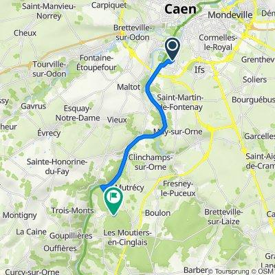 Itinéraire à partir de Rue Serge Rouzière, Fleury-sur-Orne
