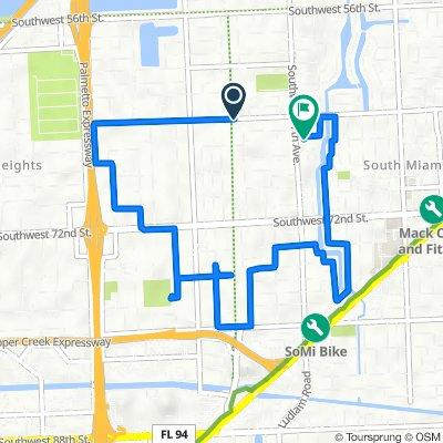 6905 SW 64th St, South Miami to 6626 SW 65th Terr, South Miami