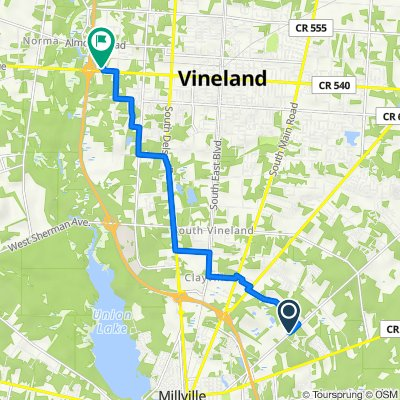 1620–1644 Hance Bridge Rd, Vineland to 2196 W Landis Ave, Vineland