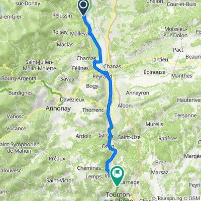 Restful route in Saint-Jean-de-Muzols