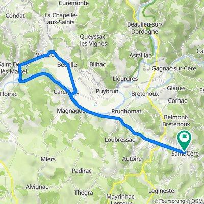 De 14 Rue Saint-Cyr, Saint-Céré à 12 Place Jean Jaurès, Saint-Céré