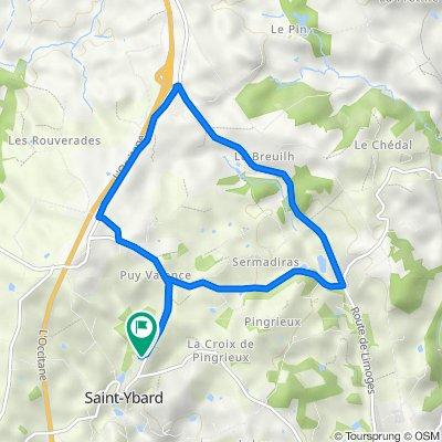 De Rue des Fontaines 33, Saint-Ybard à Rue des Fontaines 33, Saint-Ybard