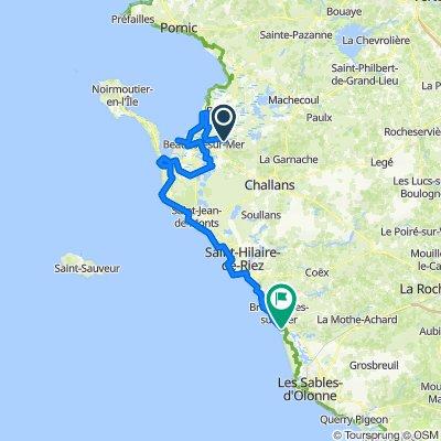 De Route de la Noue Mossard, Saint-Gervais à Chemin des Conches Arrochaudes, Brétignolles-sur-Mer