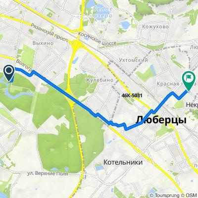 От Кузьминская улица, 10 с4, Москва до проспект Гагарина, 20, Люберцы